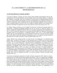 Zapatismo neo - zapatismo interrelaciones políticas económicas y sociales con el capitalismo