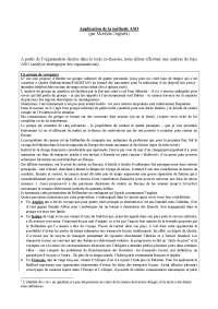 Notes sur l'application de la méthode ASO