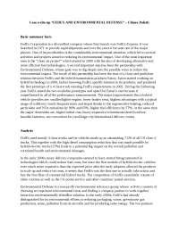 case write up - strategic CSR - Electrc vehicles at FedEx