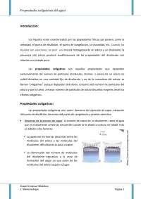 Propiedades coligativas del agua para Bioquimica