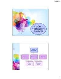 koncept rizicnih i protrktivnih faktora
