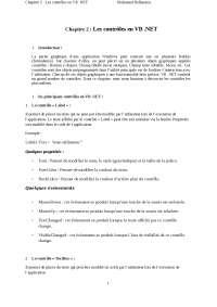 Notes sur les contrôles en VB .NET