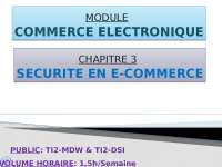 Notes sur le thème du commerce électronique