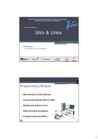 Notes sur les programmes de Unix & Linux
