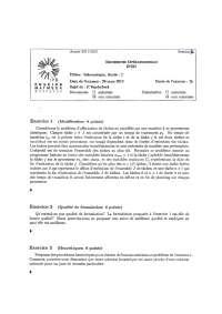 Exercices sur le thème de la recherche opérationnelle - 6