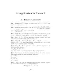 Exercices sur les applications de R dans R, Exercices de Mathématiques