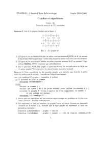 Exercices sur les graphes et les algorithmes - 4, Exercices de Algorithmique et programmation des applications