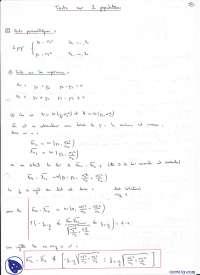 Exercices sur les tests qui concernent 2 populations, Exercices de Mathématiques et dstatistiques