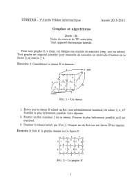 Exercices sur les graphes et les algorithmes - 5