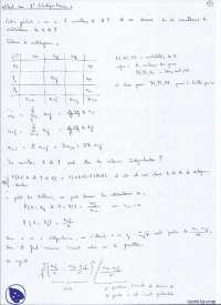 Exercices sur les tests de X d'indépendance