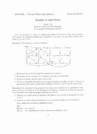 Exercices sur les graphes et les algorithmes - 3