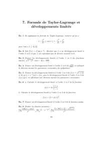 Exercices sur la formule de Taylor-Lagrange et développements limités, Exercices de Mathématiques
