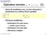 Notes sur la programmation impérative - 2° partie