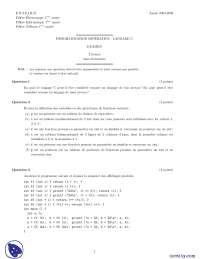Exercices sur le thème de la programmation impérative - 2