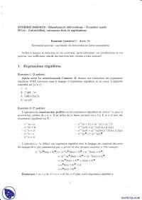 Exercices sur les calculabilité, automates finis et applications