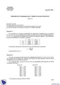 Exercices sur le traitement de l'information 8