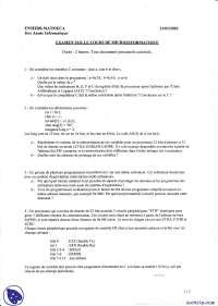 Exercices de micro-informatique - examen 6