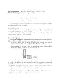 Exercices sur l'algorithmique et la programmation - 3
