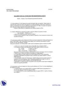 Exercices de micro-informatique - examen 9