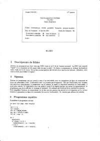 Exercices sur la programmation du système - 3