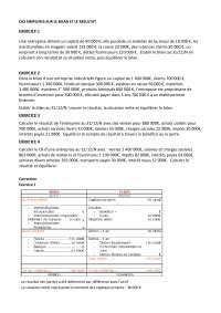 Les cas simplifiés sur le bilan et le résultat