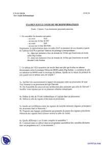 Exercices de micro-informatique - examen 2