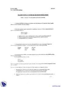 Exercices de micro-informatique - examen