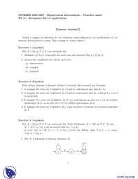 Exercices sur les automates finis et applications - 5, Exercices de Applications des sciences informatiques