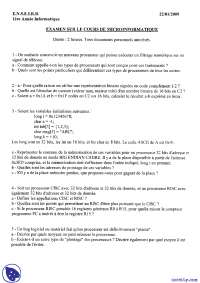 Exercices de micro-informatique - examen 5
