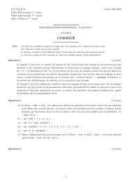 Exercices sur la programmation impérative - langage C