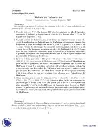 Exercices sur le traitement de l'information, Exercices de Applications des sciences informatiques