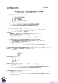Exercices de micro-informatique - examen 10