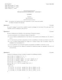 Exercices sur la programmation impérative - langage C - 2, Exercices de Application informatique