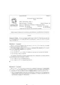 Exercices sur les automates finis et applications - 4