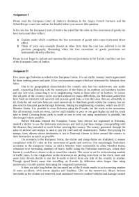 esercitazione EU law