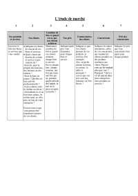 Notes sur l'étude de marché
