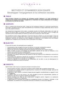 Notes sur la question de motiver et dynamiser l'équipe, Notes de Gestion des affaires