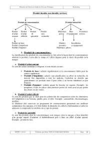 Notes sur les principes fondamentaux du marketing - 2° partie