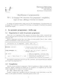 Notes sur l'algorithmique et la programmation