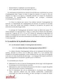 Notes sur la présentation du droit de l'urbanisme au Maroc - 2° partie