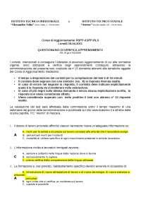 2 - SOLUZIONE TEST VERIFICA APPRENDIMENTO