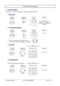 Notes sur les fonctions logiques