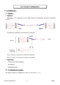 Notes sur les circuits combinatoires - 1° partie