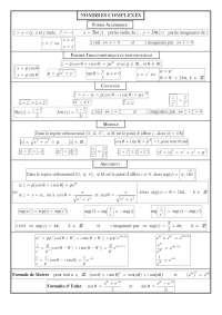Notes sur les nombres complexes
