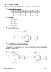 Notes sur les circuits combinatoires - 2° partie