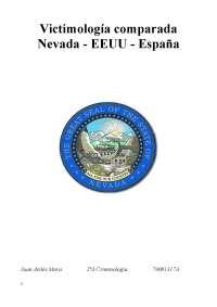 Trabajo de victimología comparada. Las Vegas - EEUU (UMA)
