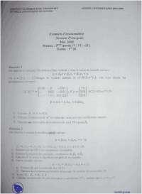 Examen d'économétrie