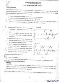 Exercices sur les ondes et l'intéraction onde-matière