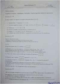 Exercices d'arithmétique