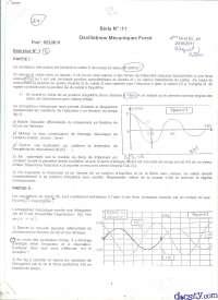 Exercices sur les oscillations mécaniques forcées
